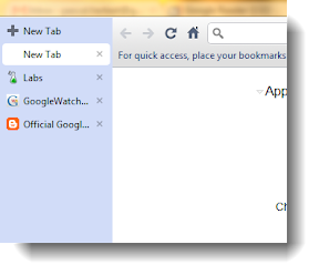 Vertikale Tabs in Chromium