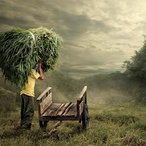 grass head by Budi Cc-line - Digital Art People ( indonesia )