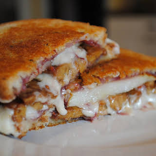 Raspberry-Pear Grilled Cheese Sandwich.