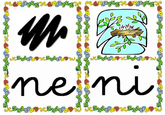 Tarjetas Infantiles Con Silabas Y Dibujos