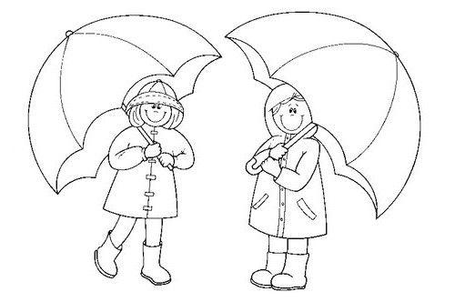 Como Dibujar Un Paraguas Dibujos De Otoño Para Niños