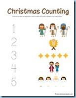 Nativity Preschool Pack Counting