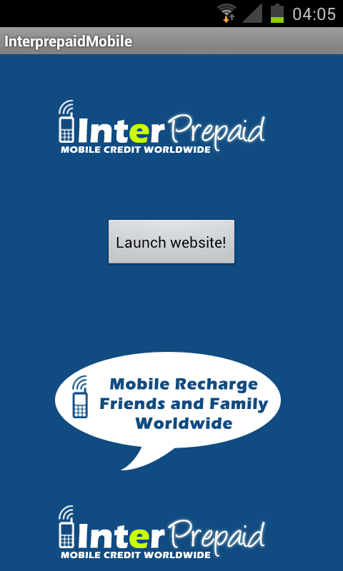 Interprepaid Top Up Worldwide- screenshot