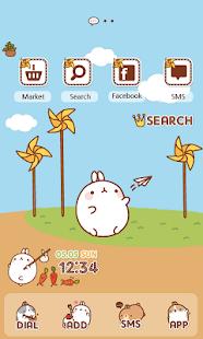 CUKI Theme Molang and pinwheel