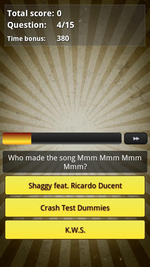 Music Hits Quiz Trivia - 1990s - screenshot