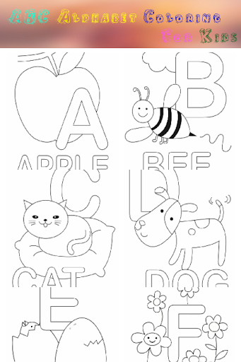 ABC Alphabet Coloring for Kids