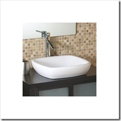 Classically Redefined Square Semi-Recessed Ceramic Vessel Sink