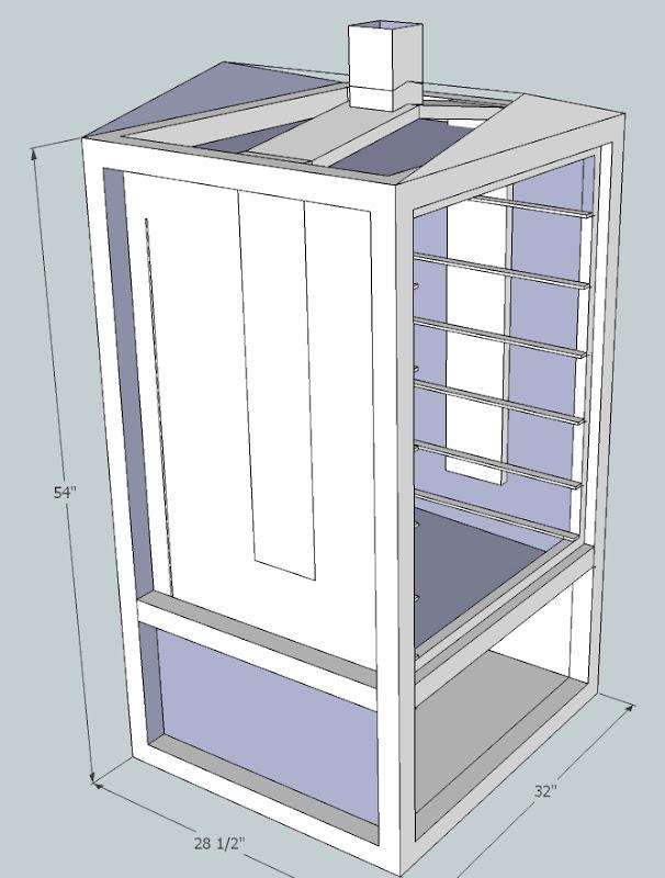 diy vertical smoker plans do it your self diy. Black Bedroom Furniture Sets. Home Design Ideas