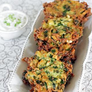 Spinach, Feta & Potato Latkes (Spanolatkes).