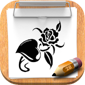 How To Draw Tattoo Flower