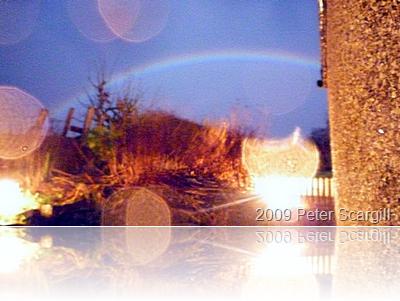 Lunar rainbow in Wark, Northumberland January 2009