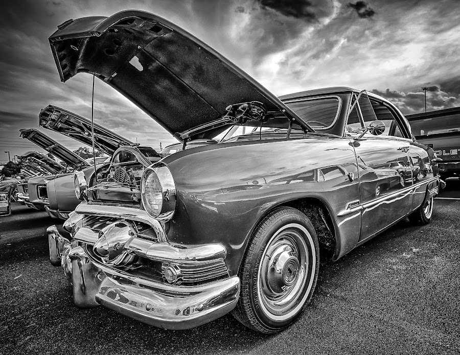 Brown Sedan by Ron Meyers - Black & White Objects & Still Life