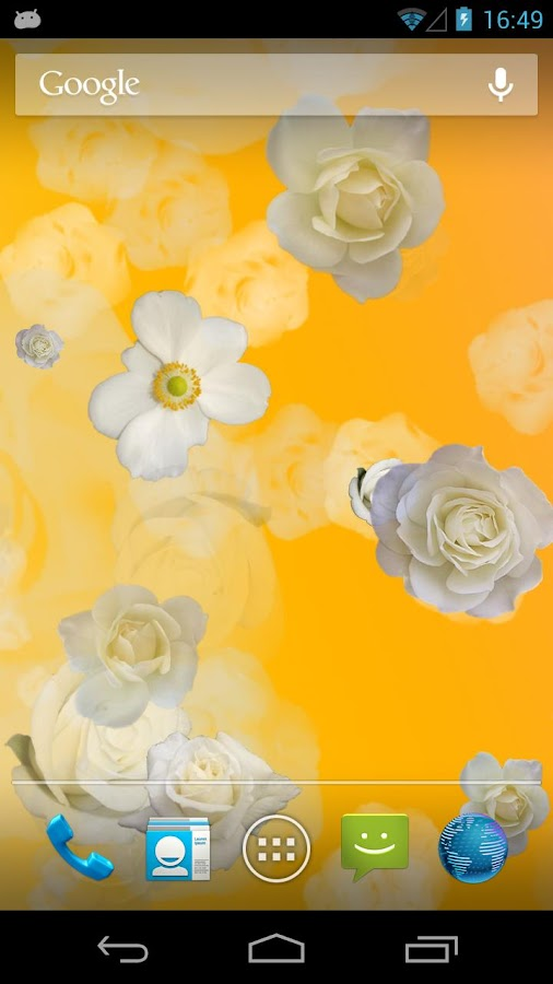 White Roses Live Wallpaper - screenshot