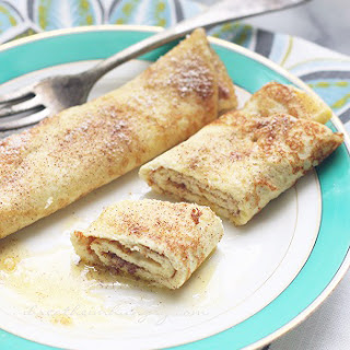 Egg Fast Recipe – Snickerdoodle Crepes (Low Carb)