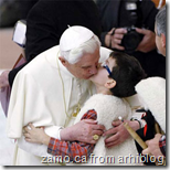 Pope Frenchkisses boy