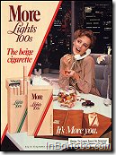 More Lights 100 - the beige cigarette