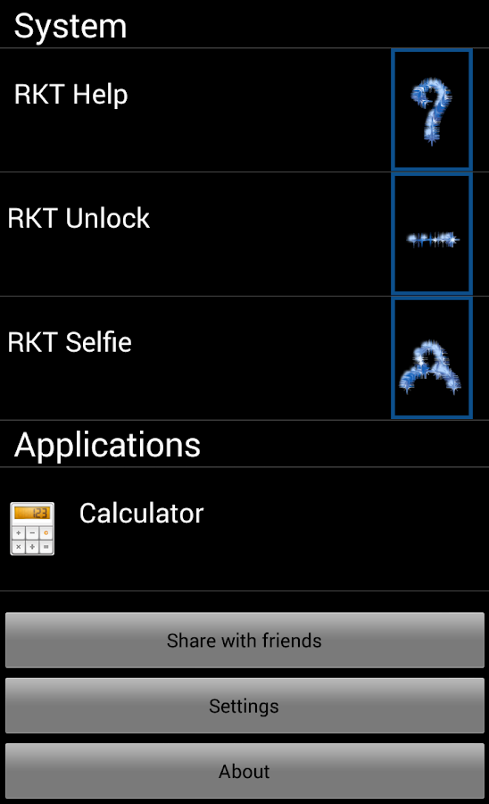 RKT Launcher - screenshot