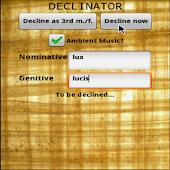 Latin Declinator