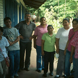 Sister Rosvia and Rick Blower of the Santa Rosa Fund with the staff of the José Urtecho School, 2007