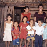 Reina, helper and several of the children in her pre-school class, 2004
