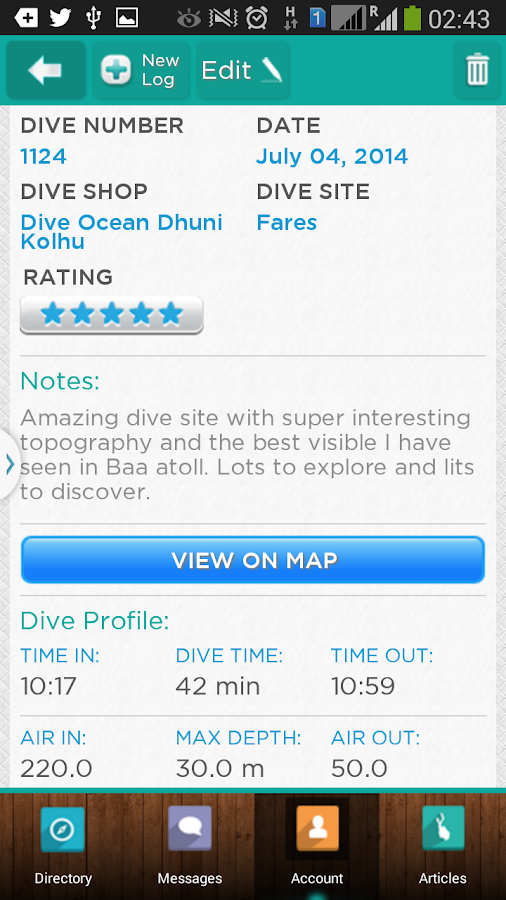 DiveAdvisor - Scuba Diving App- screenshot