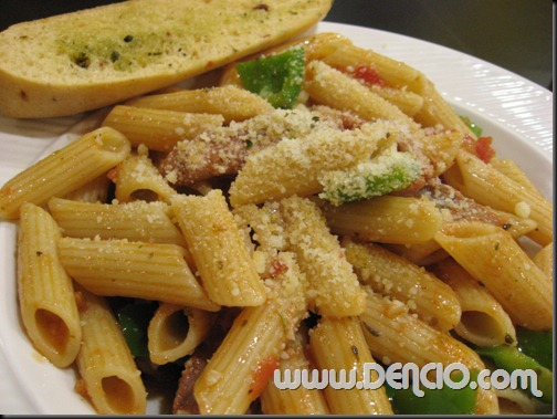 Penne with Sausage and Peppers P108