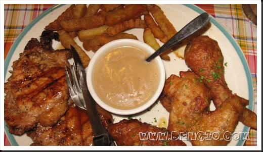 Pork Chops, Chicken, and Fries With Gravy!
