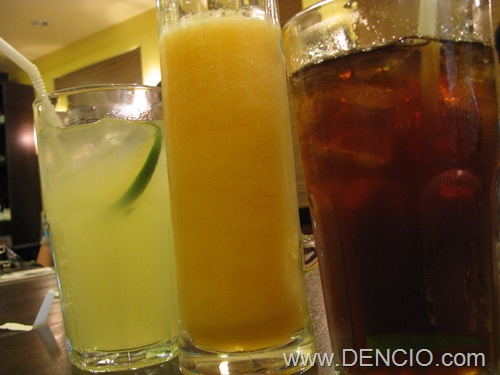 Lemonade, Mango Shake, Iced Tea