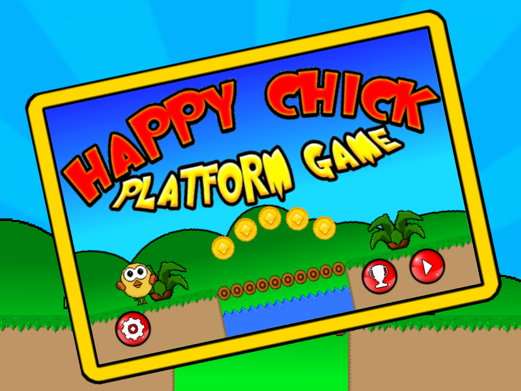 Happy Chick - Platform Game- screenshot