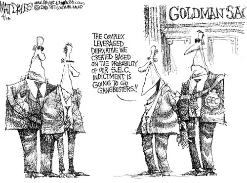The Frustrated Teacher Monday Cartoon Fun Goldman Sachs Vs Sec Edition