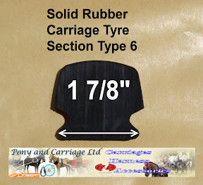 Horse Carriage Rubber Tyre Type 6