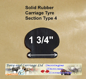 Horse Carriage Rubber Tyre Type 4