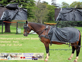 New Carriage Driving Harness Waterproof Fleece Lined Quarter Sheet Rug