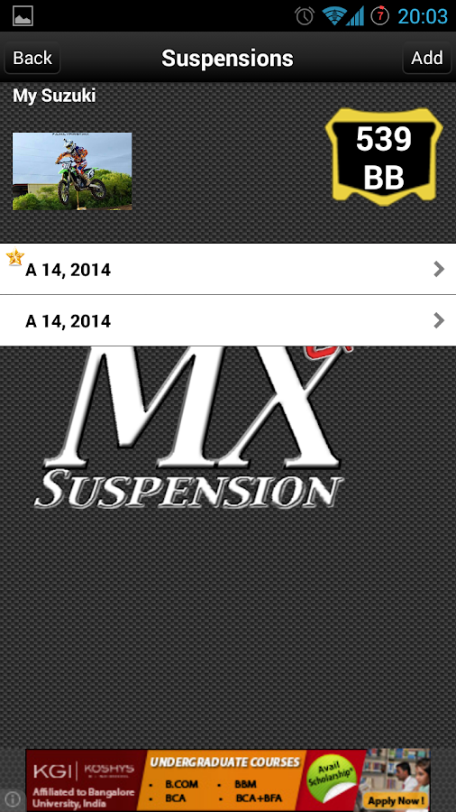 Mx Suspension Lite- screenshot