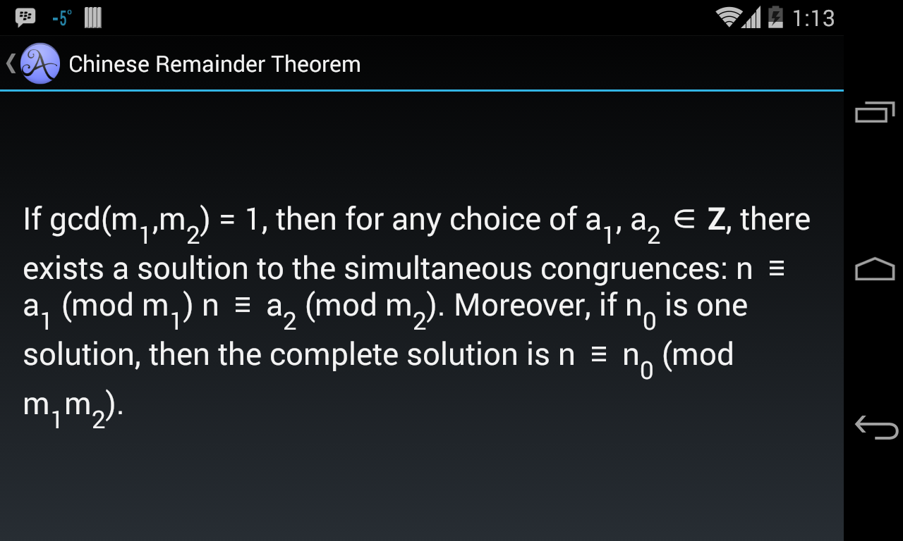Math 135- screenshot
