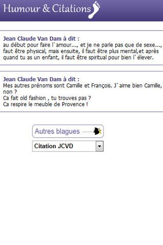 Humour, blagues et Citations - screenshot