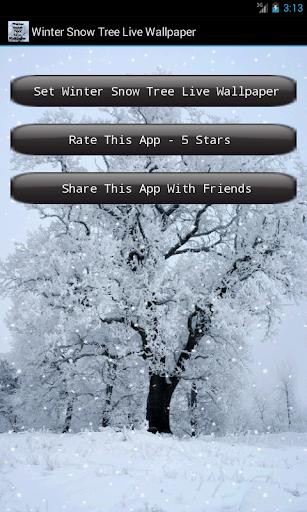 Winter Snow Tree Livewallpaper