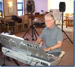 Gordon Sutherland playing for the Care & Craft members