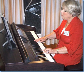 Marlene Forrest playing the Clavinova