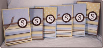 monogram s stripes set cards