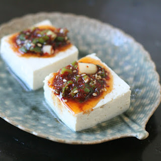 Steamed Tofu with Spicy Sauce.