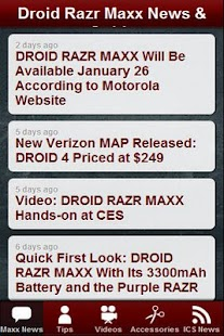 Droid Razr Maxx News & Tips- screenshot thumbnail