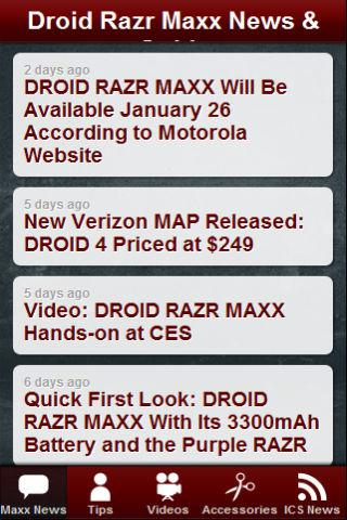 Droid Razr Maxx News & Tips- screenshot
