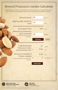 Almond Potassium Calculator - screenshot thumbnail