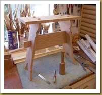 trestle stool2-in process