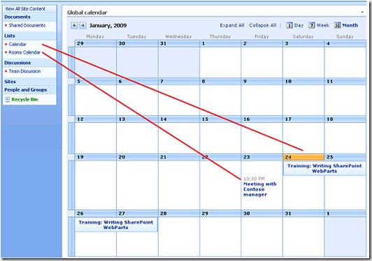 sharepoint el otro blog sharepoint global or master calendar