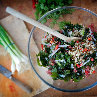 Deeply Nourishing Seaweed and Sprout Salad.