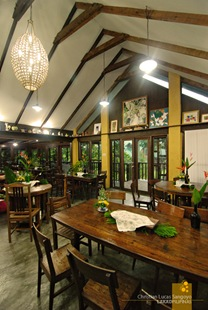 Second floor dining hall at Casa San Pablo