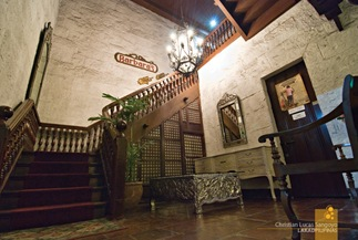 The Grand Staircase Leading to Barbara's at Plaza San Luis in Intramuros, Manila