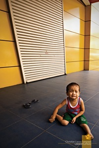 A Crying Kid at the Pasig City Hall